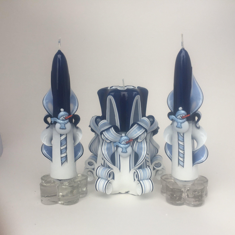 Snowman Candle Set