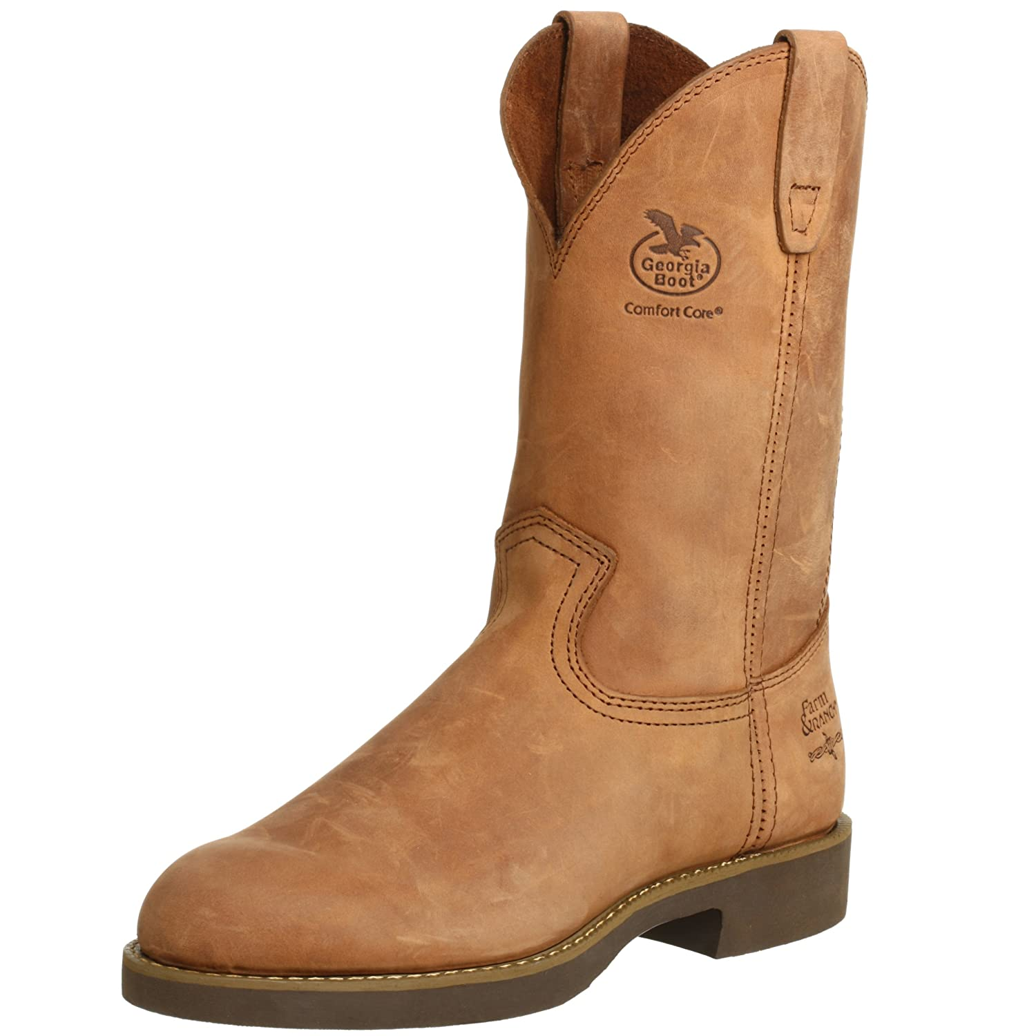 11 inch Men's Georgia Wellington Prairie Chestnuet Heritage, CHESTNUT, 7.5M(D)