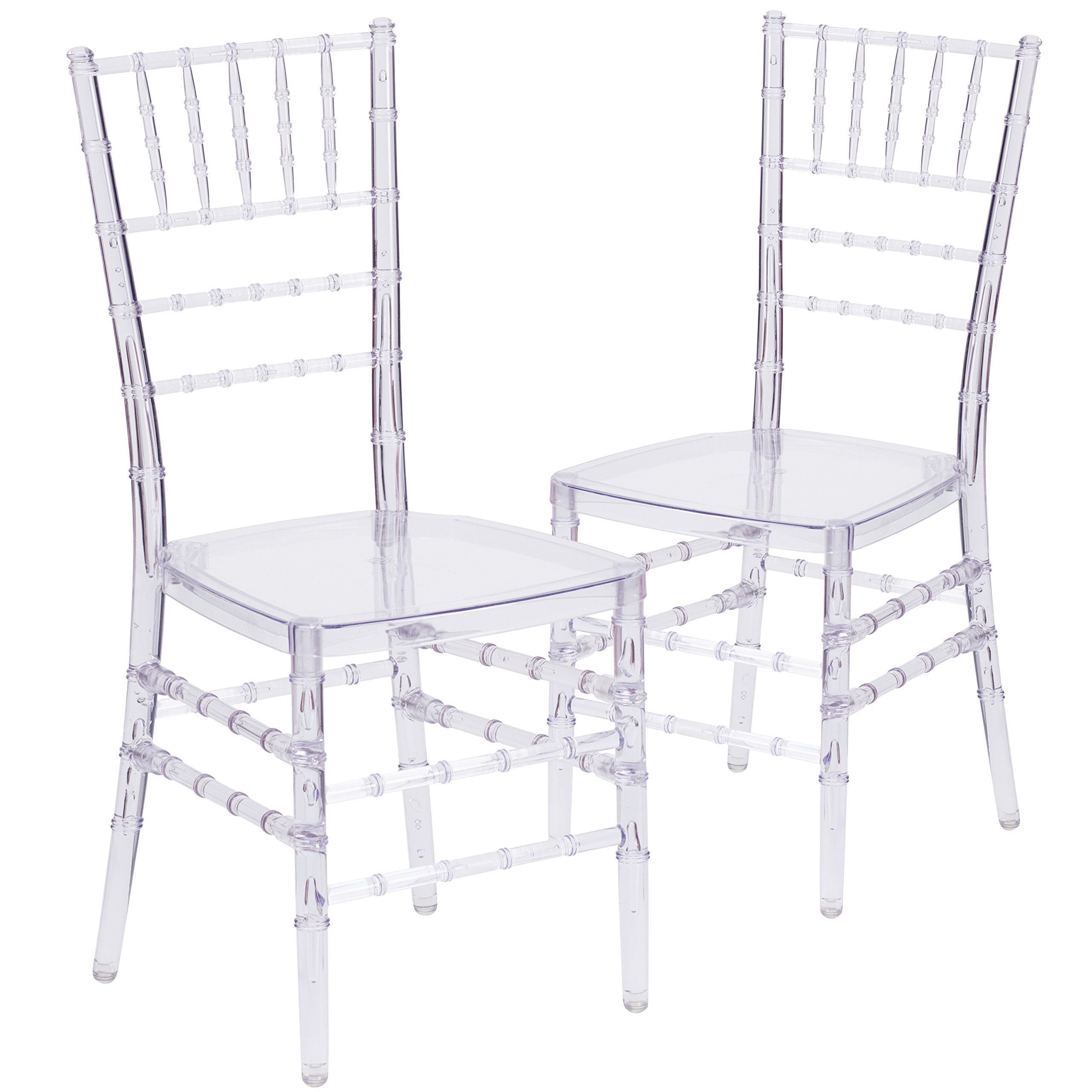 Flash Furniture 2 Pk. Flash Elegance Crystal Ice Stacking Chiavari Chair