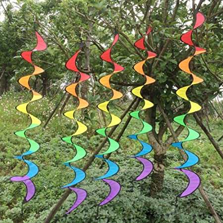 Spirale Windmühle Bunte PVC Wind Camping Spinner-Zelt-Dekor Faltbare Regenbogen