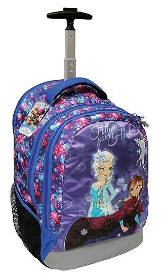 Exclusiv * Disney Frozen Maleta escolares. sobre ruedas – Mochila escolar con 47 x