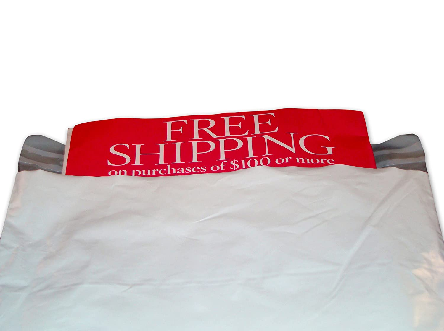 300 Pieces Premium 6 x 9 Inch White Poly Mailers Plastic Shipping Bag