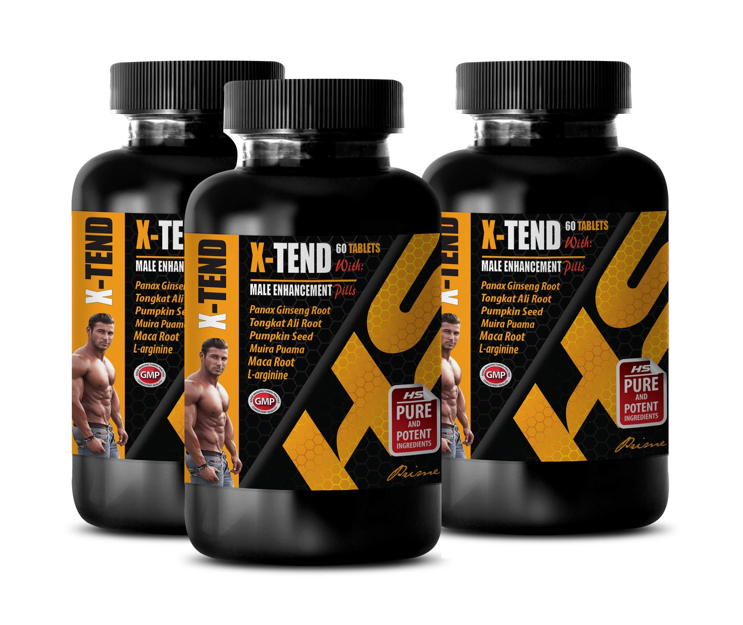 Man Enhancement Pills for Sex - X-TEND - Male Enhancement Pills - l-arginine Nitric Oxide Booster - 3 Bottles 180 Tablets