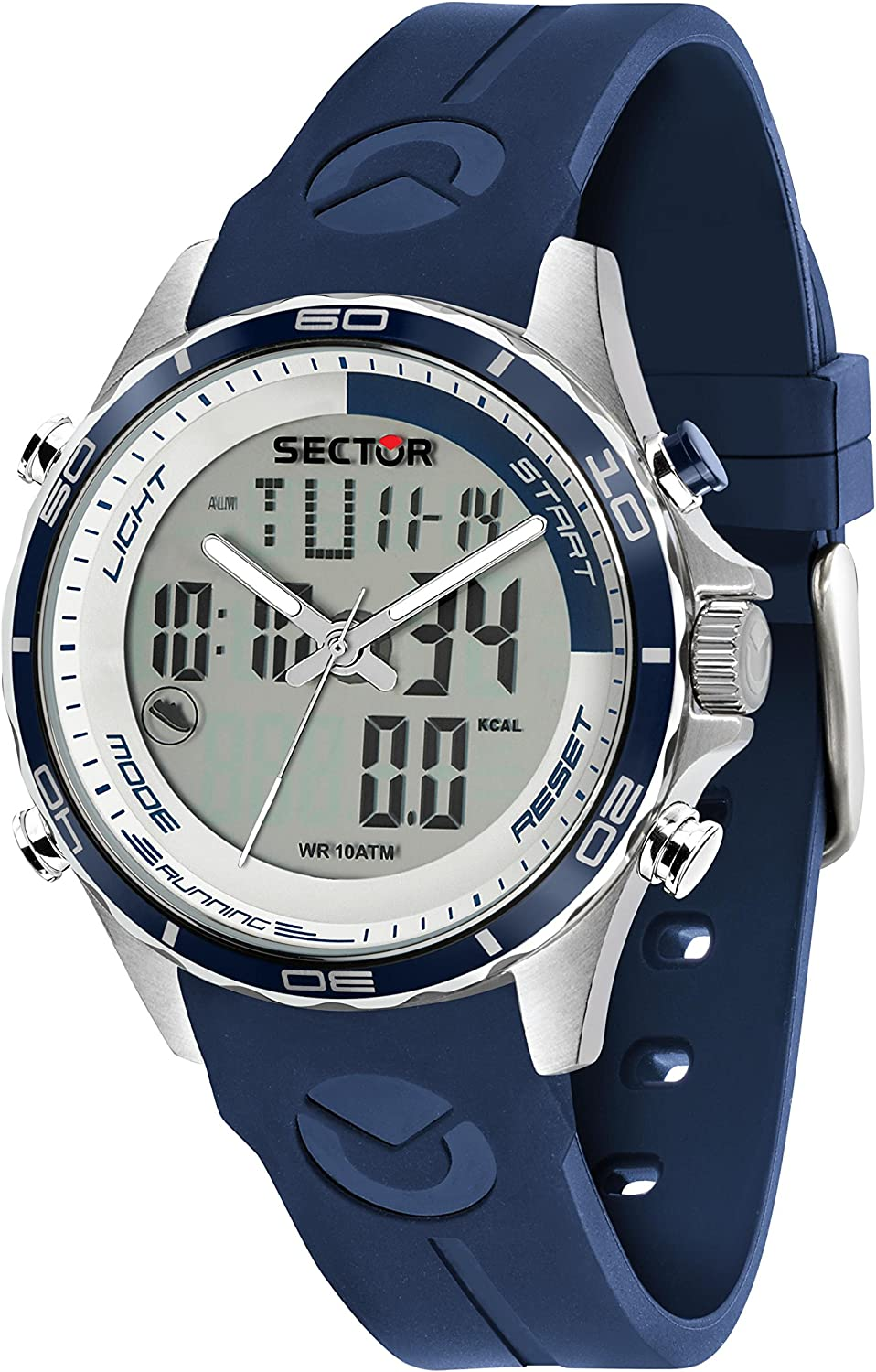 Sector No Limits Men s Master Stainless Steel Analog-Quartz Sport Watch with Silicone Strap, Blue, 18 Model R3271615003