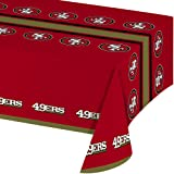 Creative Converting Officially Licensed NFL Plastic Table Cover 54x102 San Francisco 49ers