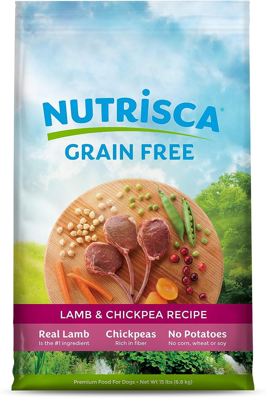 Dogswell NUTRISCA Premium Grain Free Dry Dog Food, Lamb & Chickpea Recipe