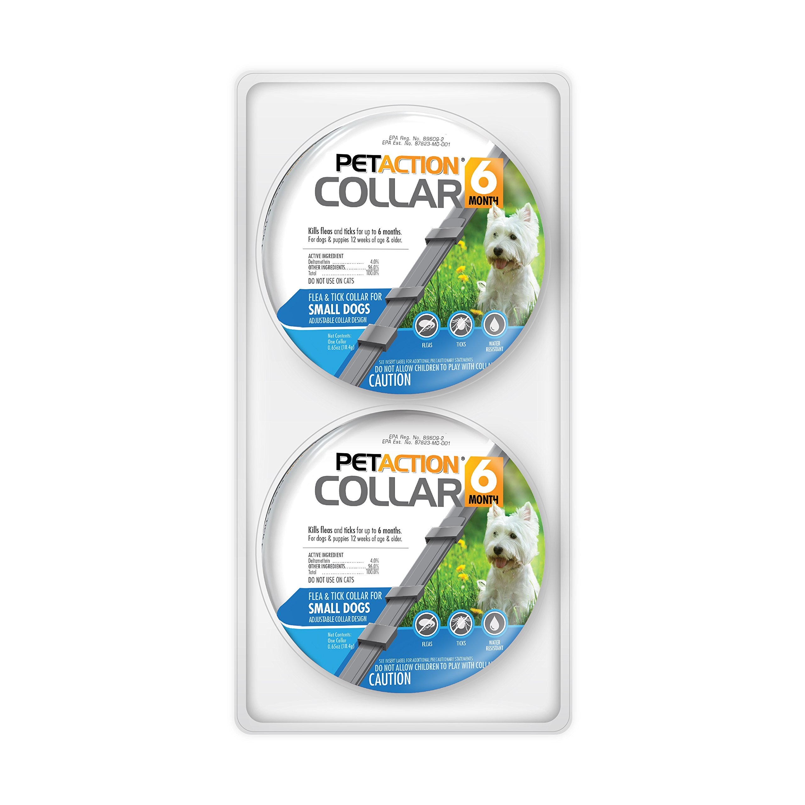 Pet Action Six Month Collar Fleas Ticks, Small Dogs, 2 Pack by Pet Action (Image #1)