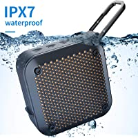 Wireless Portable Bluetooth Shower Speaker - IPX7 Waterproof Outdoor Small Speakers with Mic 8-Hour Playtime AUX Input TF Card Play for Bath Pool Beach Kayaking Hiking Climbing