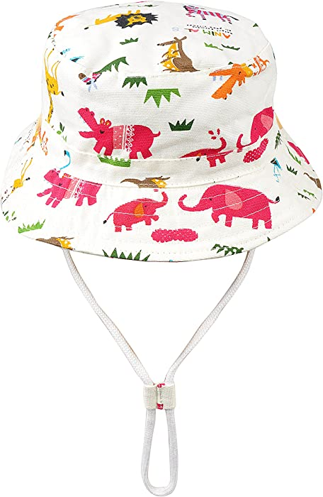 Baby Toddler Kids Animal Breathable Bucket Hat Soft Cotton Sun Ray  Protective Hat Adjustable for Grow 27dfb6a0efb4