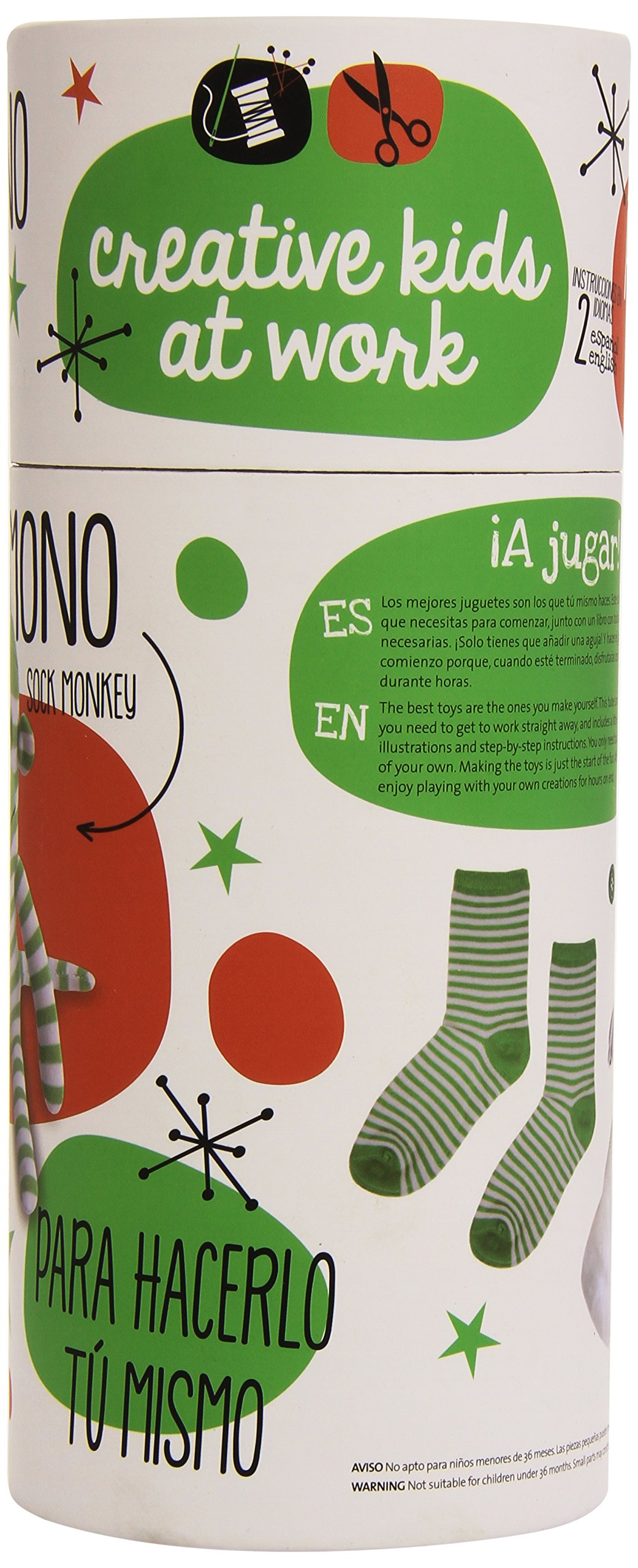 CALCETIN DE MONO.(TUBO CREATIVE KIDS AT WORK): 8712048295103: Amazon.com: Books