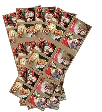Usps Christmas Stamps.Sparkling Holidays Christmas Santa Usps Forever Stamps 4 Booklets 80 Stamps