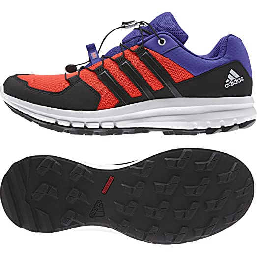 Adidas Outdoor Duramo Cross Trail Running Shoe - Men's Solar Red/Black/Night  Flash