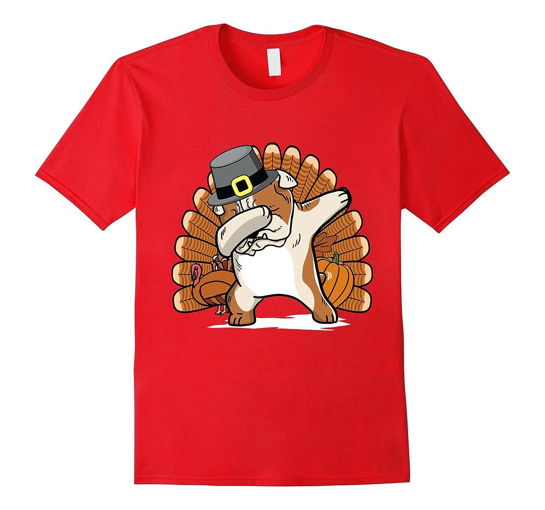2f91c3f1 Funny Dabbing English Bulldog Thanksgiving T-Shirt Dog Gift-ANZ ⋆ Anztshirt