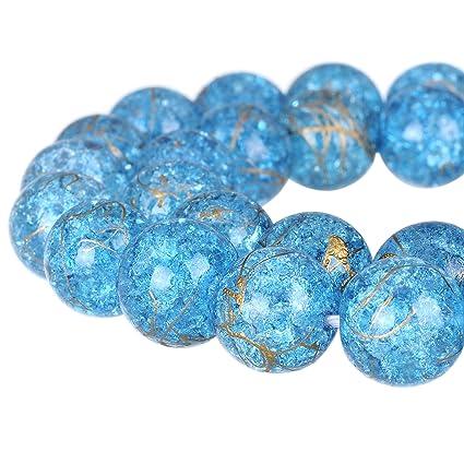 100 Czech Druk Round beads 4mm Blue Tone