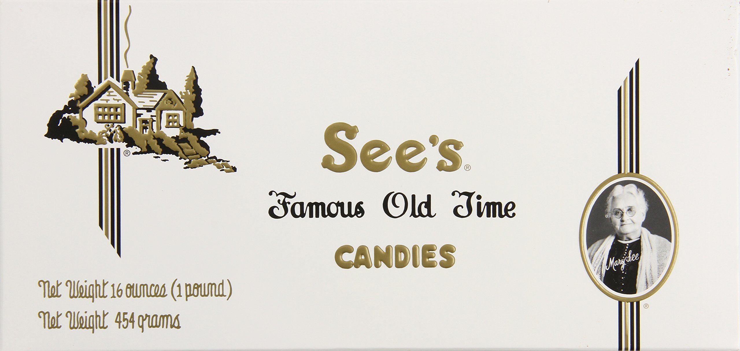 See's Candies Milk Chocolate Soft Centers (1lb Custom Packed Box)