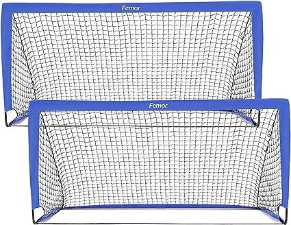 Femor Portería de fútbol portátil para niños en el Exterior, Jaula de fútbol Plegable, 180 x 90 x 90 cm, rápido de Instalar, Ideal para Entrenamiento en Jardines, Parques, Playas