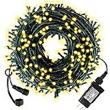 Diojilad - Luces LED de Navidad para interiores y exteriores, 32 m y 300 LED con certificación UL (4 juegos conectables…