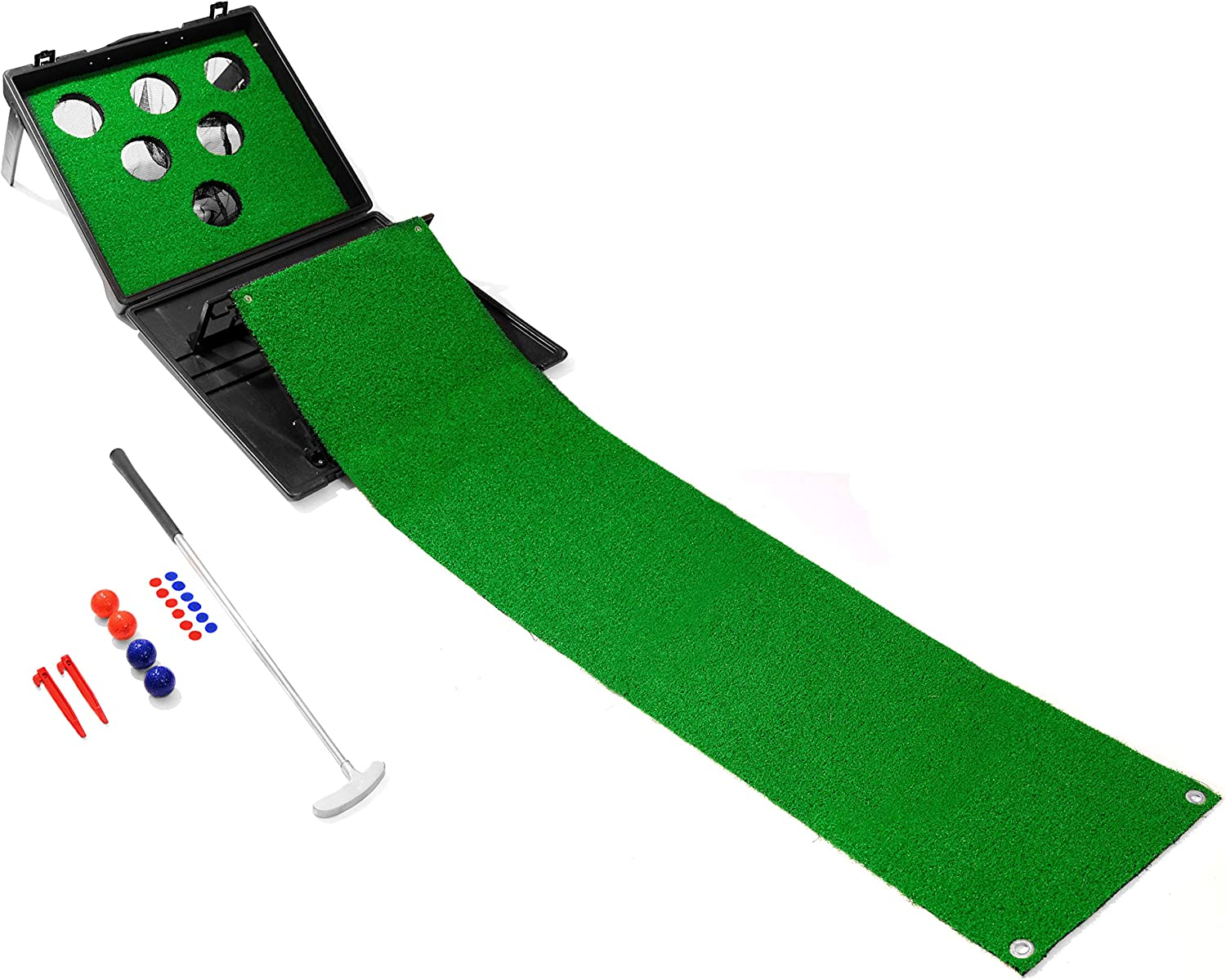 Yard Games Putter Pong Putting Game with Putter and Golf Mat