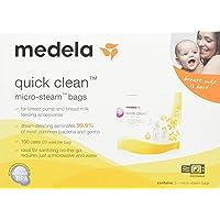 (20 Bags) - Medela Quick Clean Micro-Steam Bags Pack of 4 (20 Bags)