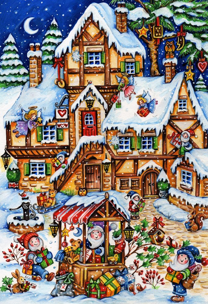 Christmas Market Kid's Jigsaw Puzzle 100 Piece