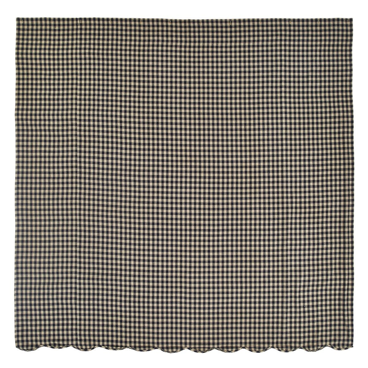 Amazon.com: Navy Check Scalloped Shower Curtain: Home & Kitchen