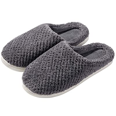 Women's Warm Memory Foam Slippers Fuzzy House Slippers Anti-Skid House Shoes Indoor Outdoor | Slippers
