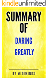 Summary, Key Analysis & Takeaways of Daring Greatly by Brene Brown