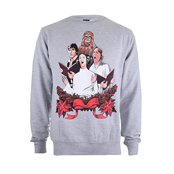 Spo Choir Heather Homme Pull Amazon Star Wars S Christmas grey f0pq6w7Rw