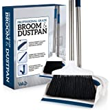 Valup Broom and Dustpan Set - Sturdy Long Handled Broom Dustpan Combo - Durable Kitchen, Lobby or Office Broom and Dust…