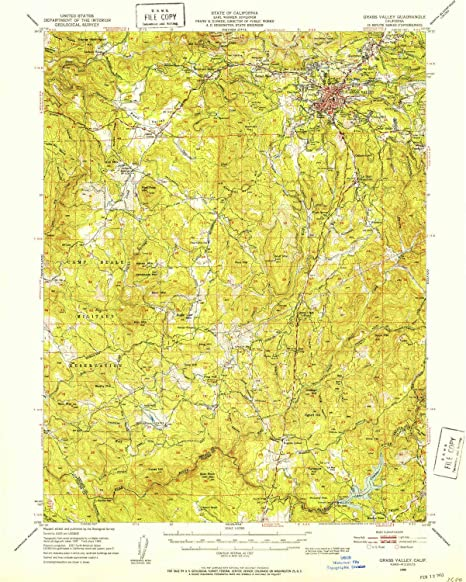 Amazon.com : YellowMaps Grass Valley CA topo map, 1:62500 ...