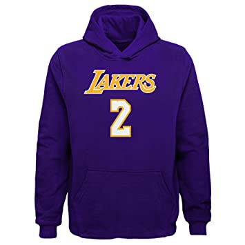 Lonzo de los Angeles Lakers # 2 NBA juventud forro polar sudadera con capucha, casual