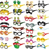Funny Cardstock Photo Booth Props Glasses - 30 Pack Party Glasses for Adults and Kids - Fun Novelty Party Favors…