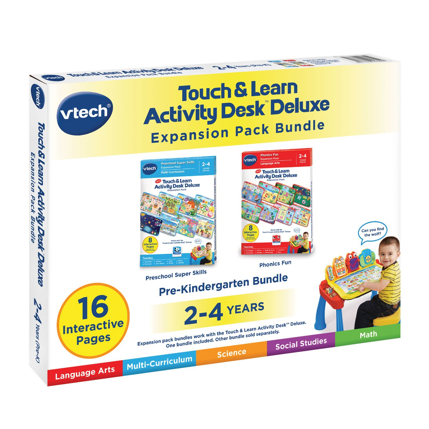 VTech Touch & Learn Activity Desk Deluxe 2-in-1 Preschool Bundle Expansion Pack for Age 2-4 by VTech (Image #6)