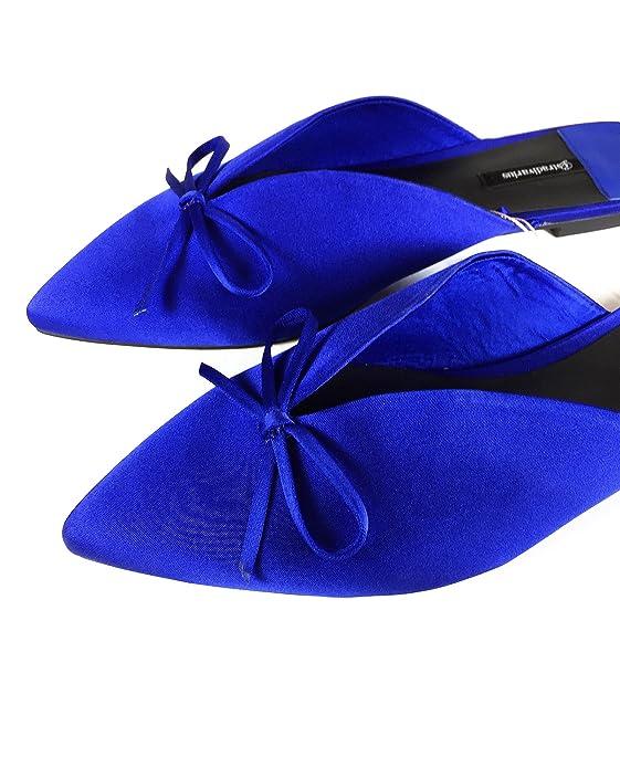 Stradivarius Damen Pantolette mit Schleife in Blau 2858/341 (36 EU V2kJwi