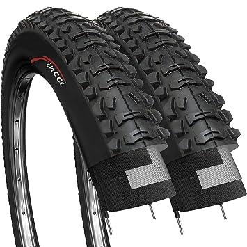 Fincci Par Carretera de Montaña Bicicleta Híbrida Neumático para Cubiertas 26 x 1,95 53-559: Amazon.es: Deportes y aire libre