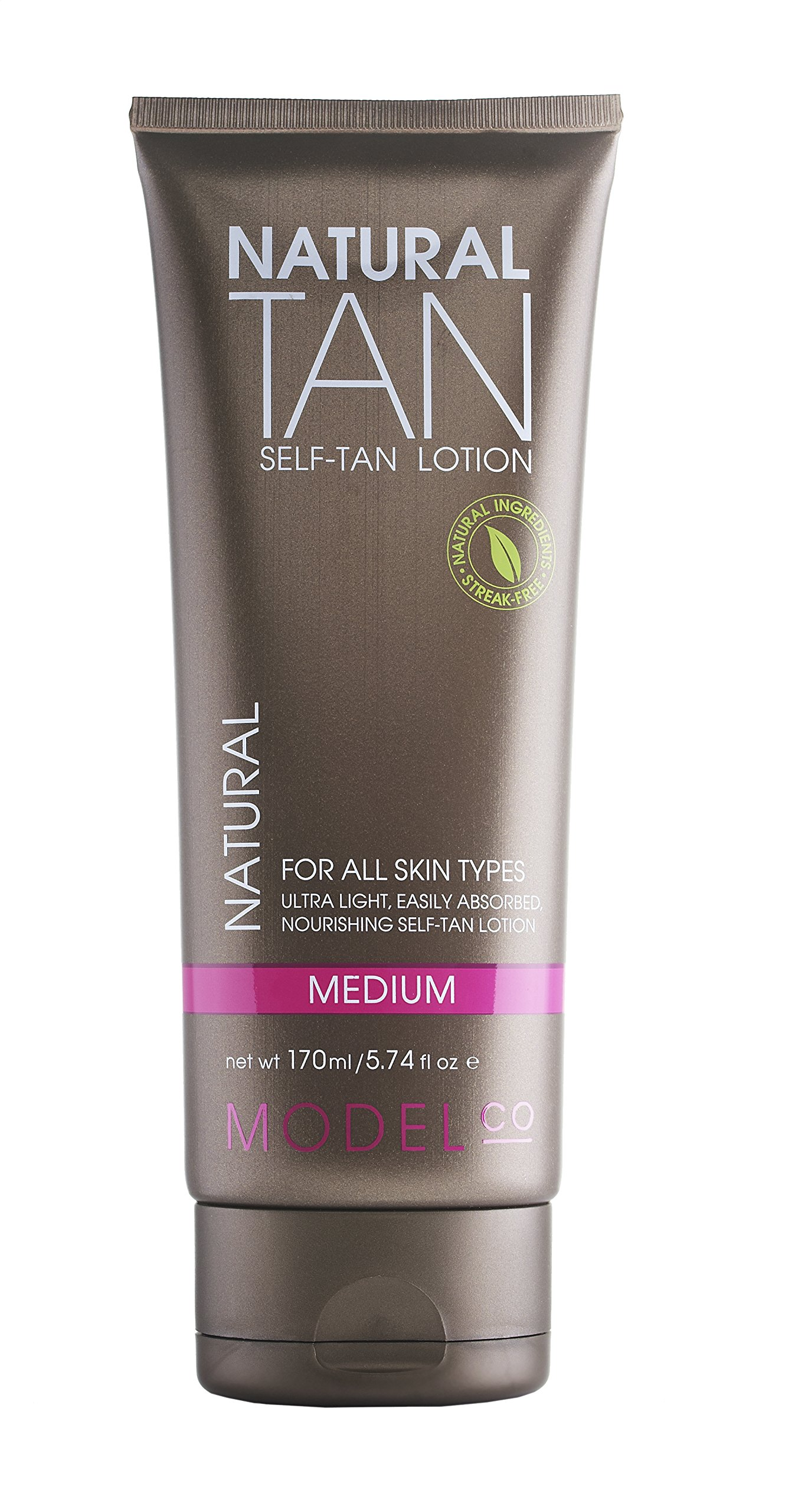 MODELCO Self Tanner | Sunless Natural Tanning Lotion | Medium | 5.74 fl oz (170 ml) by ModelCo