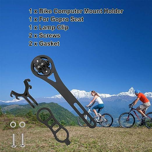 Keenso Bike Computerhalterung Metall Fahrrad Code Tabelle Gps Gps Sitzverlängerung Halterung Für Bryton Garmin Wahoo Schwarz Für Bryton Sport Freizeit