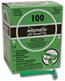 Wilkinson Hospital - Caja dispensadora de 100 cuchillas de afeitar desechables