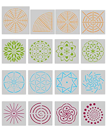 Amazon Com Biubee 16 Pcs Plastic Dotting Stencils Different