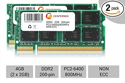 Memory RAM Compatible with Dell Inspiron 640M Notebook DDR2 4GB 2x2GB