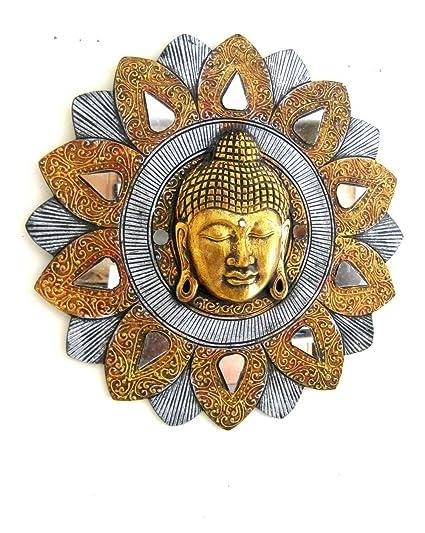 Oma Buddha Wall Art Wall Hanging Buddha Mask Wall Decor Buddha Statue Mosaic Handmade Brand Xl