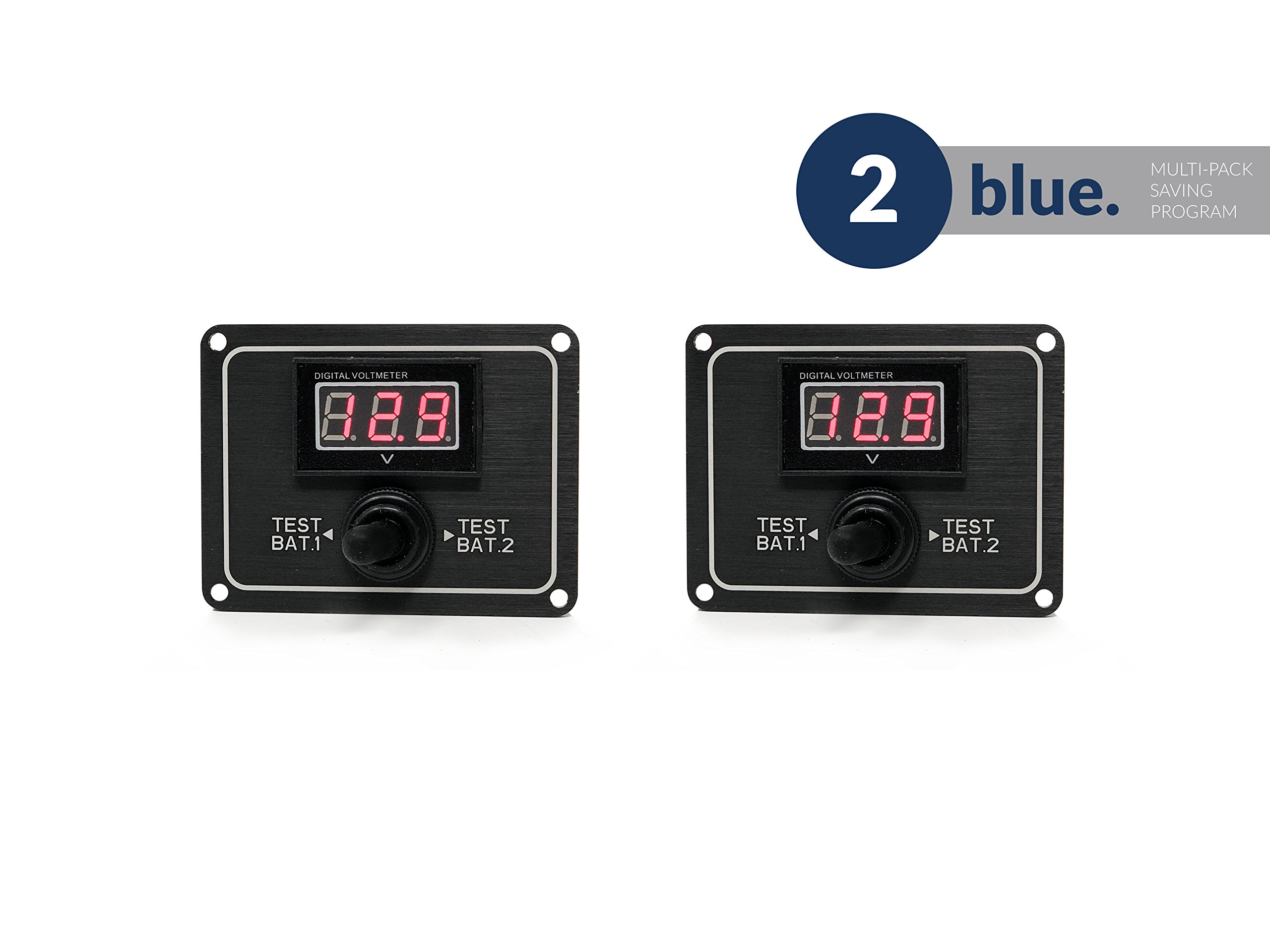 Five Oceans Marine Dual Digital Battery Test Switch, Pair FO-3515-M2