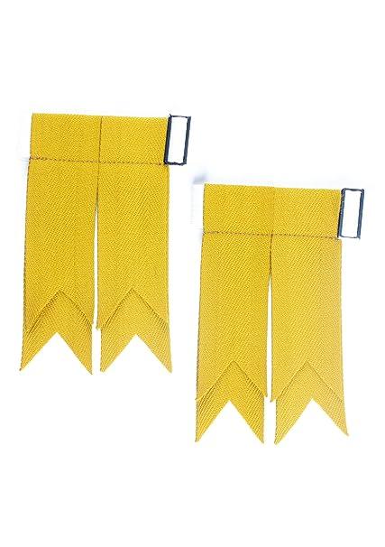 Plain o cama de matrimonio dorado calcetines de Flashes para falda escocesa