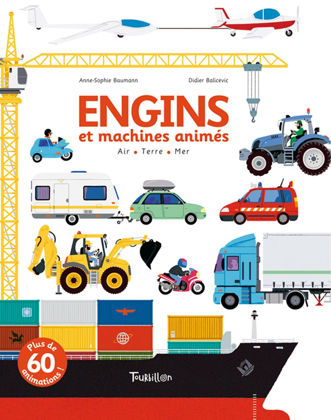Engins Et Machines Animes Amazon Fr Anne Sophie Baumann