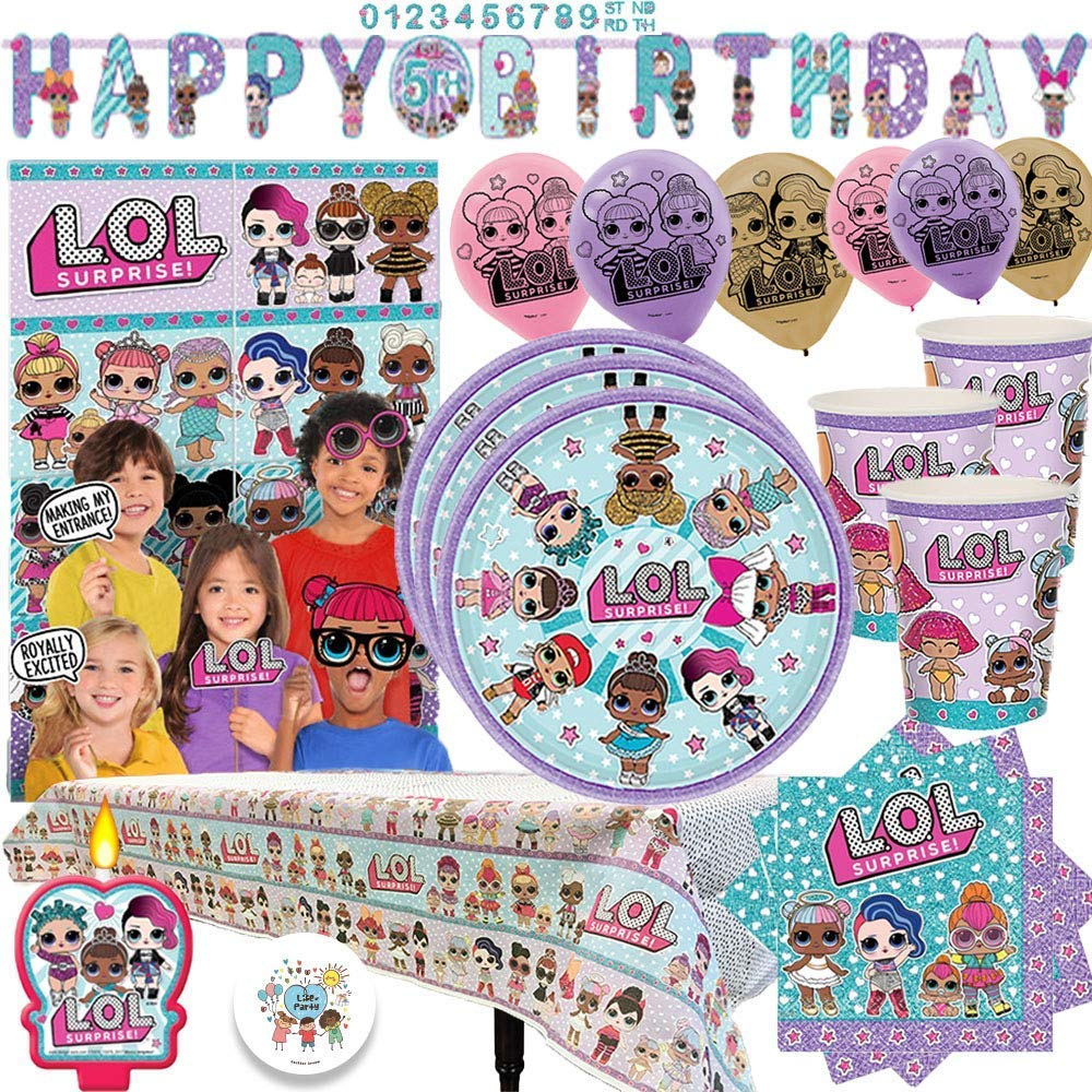 Amazon.com: L.O.L. Surprise Party MEGA Pack con decoraciones ...