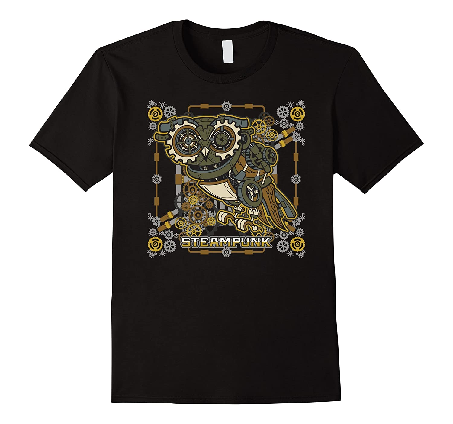 Steampunk Mechanical Owl T-shirt