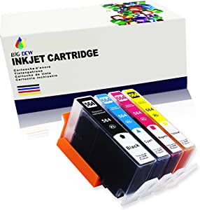 Big Dew Compatible Ink Cartridge Replacement for HP 564XL 564 Ink Cartridges Use in DeskJet 3520 OfficeJet 4620 PhotoSmart 5510 5520 5525 6510 6515 6520 6525 B209 B210 C309h(4-Pack)