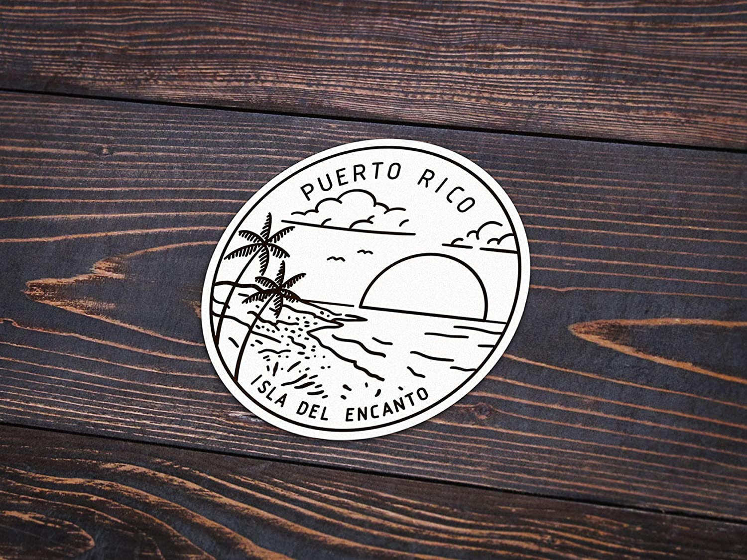 3 Puerto Rico Sticker