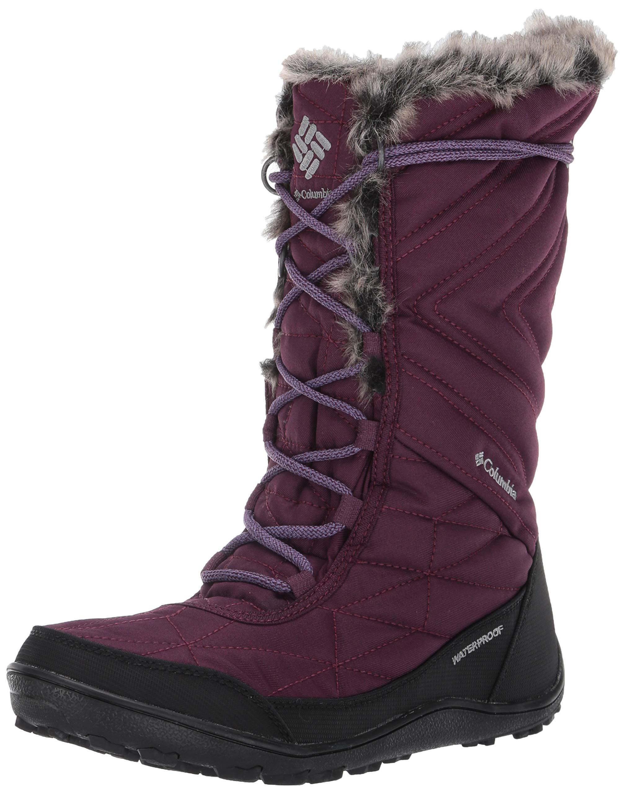 Columbia Women's Minx MID III Snow Boot, Black Cherry, Plum Purple, 9.5 Regular US by Columbia