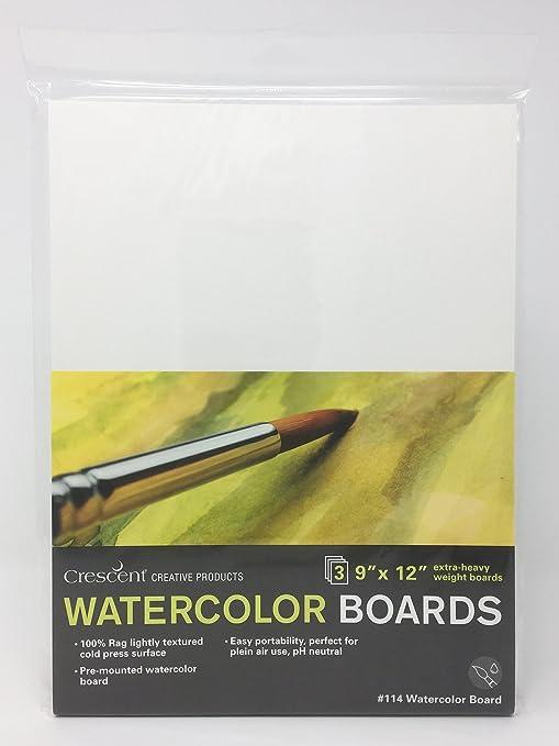 White 3 Count 8 x 10 Crescent Creative Products Crescent Art /& Illustration Watercolor Board